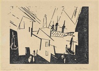the harbour by lyonel feininger