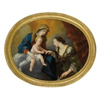 le mariage mystique de sainte catherine by giovanni francesco romanelli