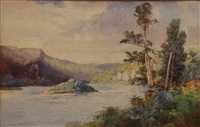 white cliffs, fuller river by frank wright