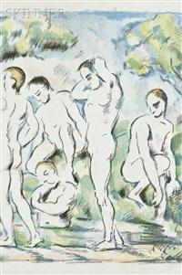 les baigneurs - petite planche/le petites baigneurs by paul cézanne