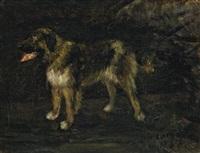 hundestudie (grosser, stehender bernhardiner) by lovis corinth
