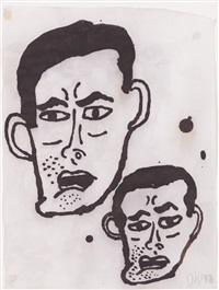 untitled #5 (heads) by donald baechler