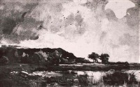 landscape with marshes by theodore emile achille
