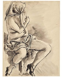 seated model by george grosz