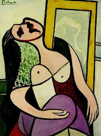 """Résultat de recherche d'images pour """"picasso 1932, la dormeuse au miroir"""""""