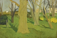 south main street, spring by fairfield porter