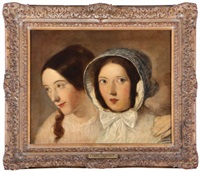 double portrait, maria (minna) and housekeeper, miss noble by john constable