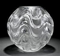 vibration clear crystal vase by rené lalique