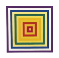 6. scramble: ascending yellow values/descending spectrum by frank stella