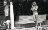 brigitte bardot sur le ponton de la madrague à saint-tropez by francis apesteguy