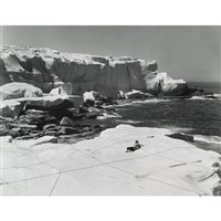 christo's wrapped coast (3 works) by harry shunk