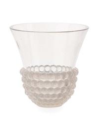 graines opalescent glass vase by rené lalique