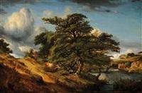 paysage au grand chêne by jules andré