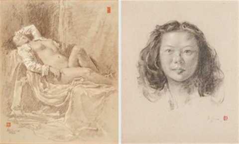 a nude b portrait 2 works by lee man fong