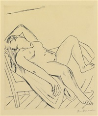 reclining figure by max beckmann