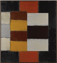 magenta figure by sean scully