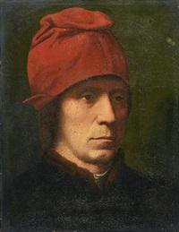 portrait of a man in a fur-trimmed coat by hans memling