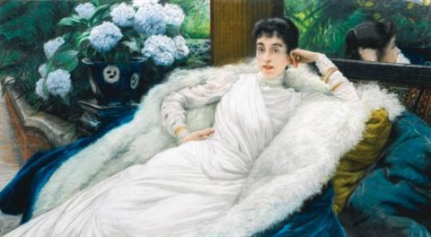 portrait of clotilde briatte comtesse pillet will by james jacques joseph tissot