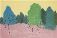 dancing trees by milton avery