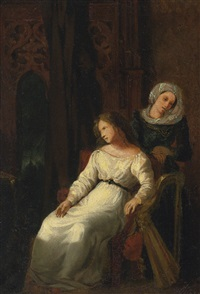 desdemona and emilia by eugène delacroix
