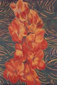 orange gladiola by pacita abad