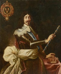 louis xiii en armure by french school (17)
