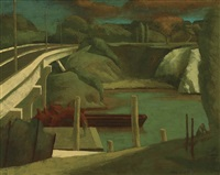 old quarry by a freeway by rick amor