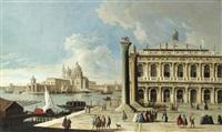 venise: vue de la place saint marc vers le grand canal et l'église de la salute by francesco tironi