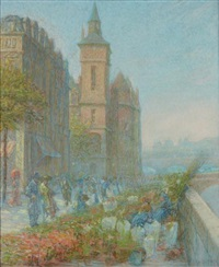 quai aux fleurs, près de la conciergerie, paris by rudolf quittner