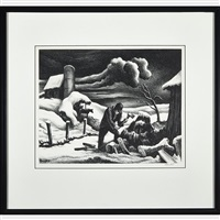 the woodpile by thomas hart benton