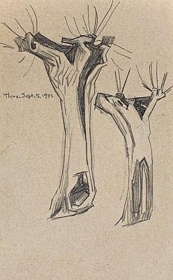 bäume by lyonel feininger