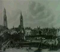 l'explosion de la poudriere de delft en 1654 by daniel vosmaer