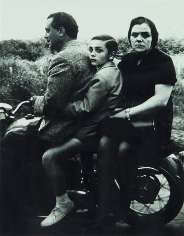 holy family on moto, rome by william klein