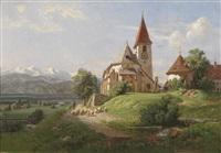 idyllische voralpenlandschaft by german school-southern (19)