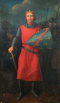 portrait de louis i, duc de bourbon, comte de clermont et de la marche by charles rauch