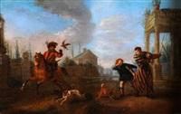 départ pour la chasse à faucon by pieter wouwerman