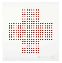 red cross by damien hirst