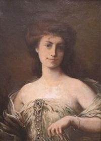 portrait d'élégante by henri léopold lévy