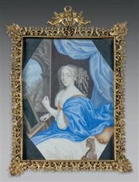 portrait de louise de la vallière devant son miroir by french school (17)