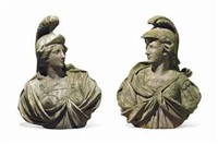 busts of mars and minerva (?) (pair) by anonymous-british (18)