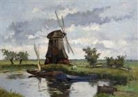 mill near de vliet by johan hendrik kaemmerer