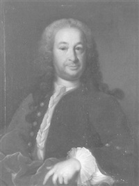 halbfigurenporträt eines herrn by johann rudolf daelliker