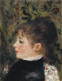 jeune femme (portrait de margot) by pierre-auguste renoir