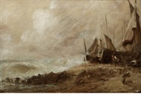 a sea beach - brighton by john constable