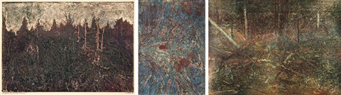 dead forest 2 others various sizes 3 works by josef vachal