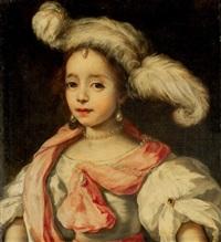 portrait d'une femme au chapeau à plumes by jan van noordt