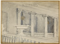 колоннада by anna petrovna ostroumova-lebedeva