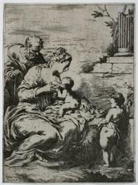 die heilige jungfrau, das kind stillend by bartolomeo biscaino