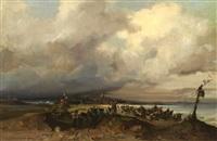 la plage de scheveningen by etienne aubert