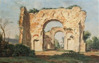 ruines aux environs de rome by prosper georges antoine marilhat